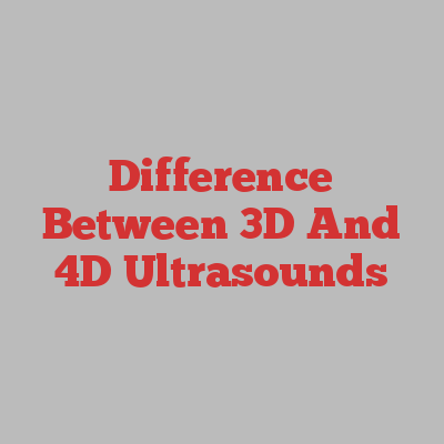 Difference Between 3D And 4D Ultrasounds